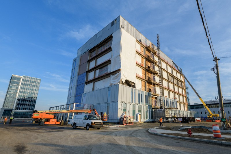 Construction began in October 2017 on the Ammon Pinizzotto Biopharmaceutical Innovation Center Center on UD's STAR Campus.