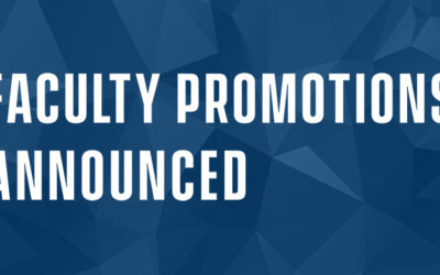FACULTY PROMOTIONS ANNOUNCED